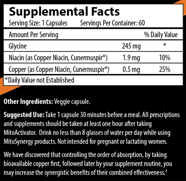 MitoActivator Extra Strength - Facts